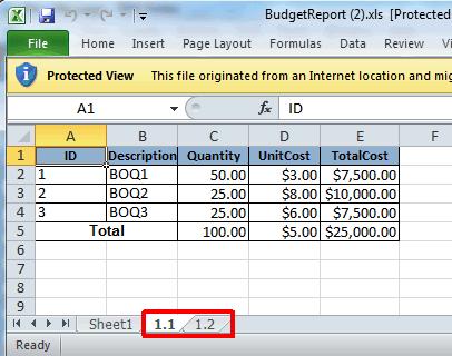 Prepare budget spec home project